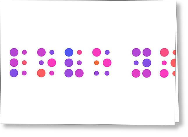 I Love You - Braille Greeting Card by Michael Tompsett