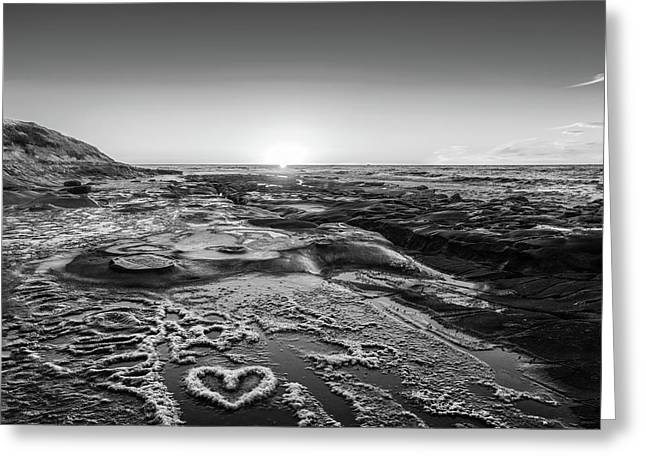 I Love You As Big As The Ocean Too   False Infrared Greeting Card