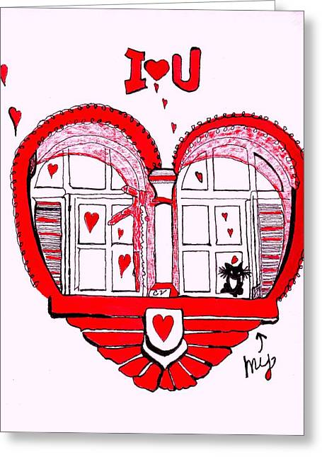 I Love You Greeting Card by Connie Valasco