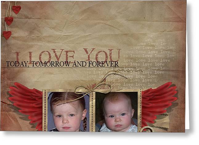 I Love You Greeting Card by Joanne Kocwin