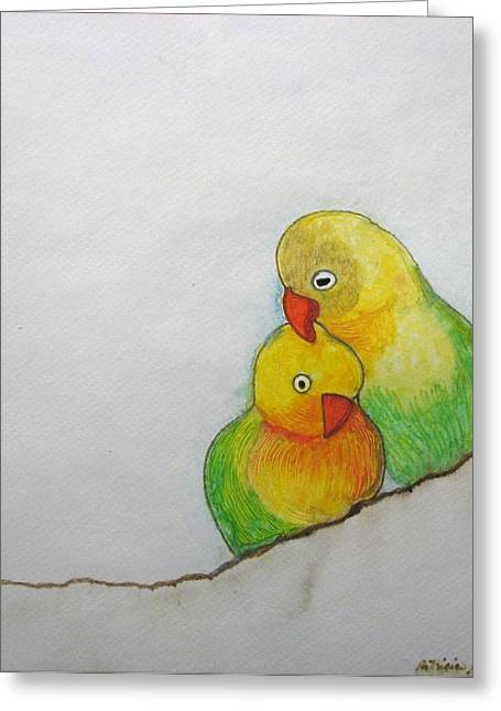 Greeting Card featuring the painting I Love You by Patricia Arroyo