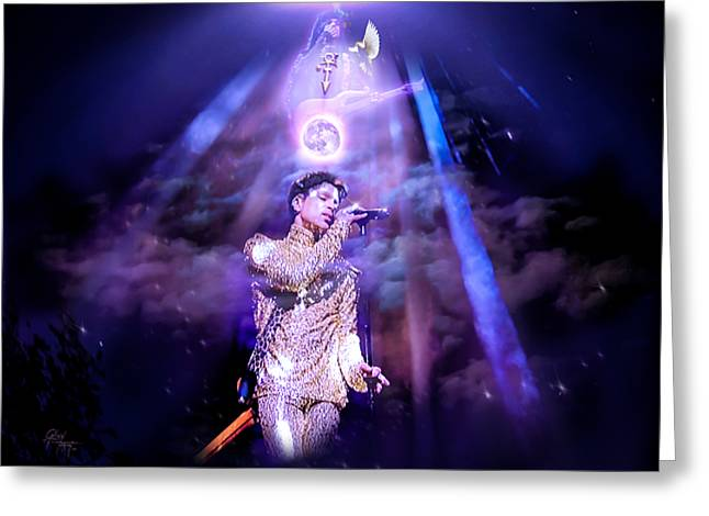 I Love You - Prince Greeting Card by Glenn Feron