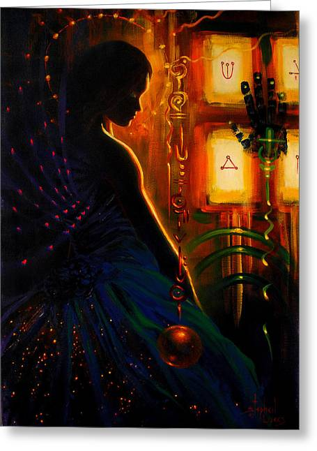 I Marry Your Mind To Lights Window Greeting Card by Stephen Lucas