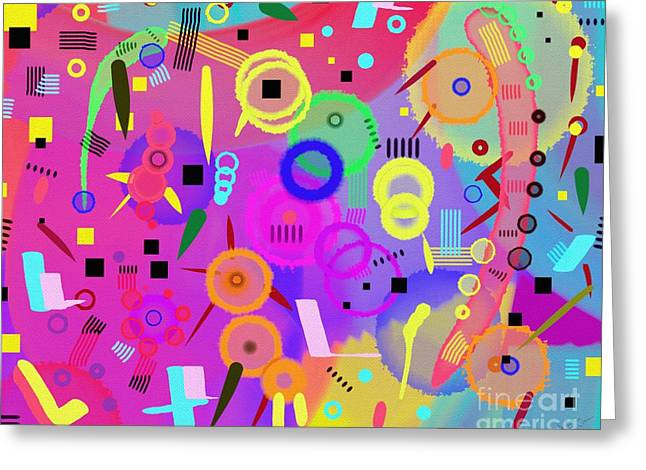 Greeting Card featuring the digital art I Once Was Happy by Silvia Ganora