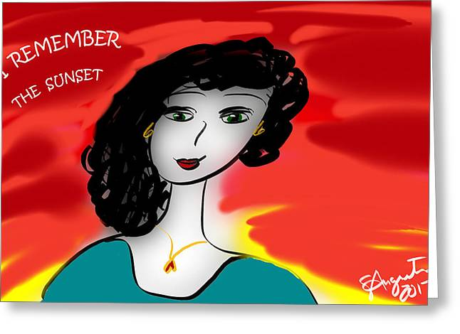 I Remember The Sunset - 2017 Greeting Card