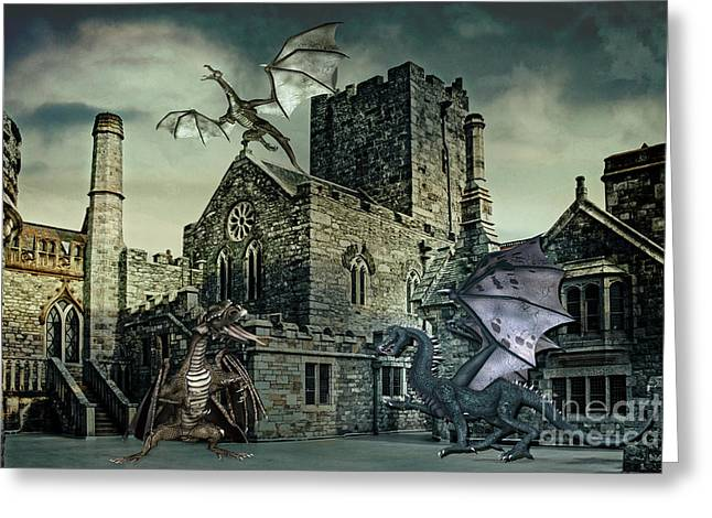 I See Dragons Greeting Card by Terri Waters