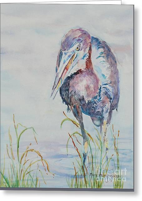 Greeting Card featuring the painting I See Lunch by Mary Haley-Rocks