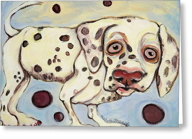 I See Spots Greeting Card by Michelle Spiziri
