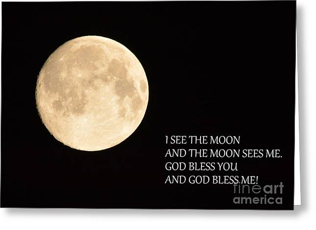 I See The Moon Greeting Card by Gordon  Allen