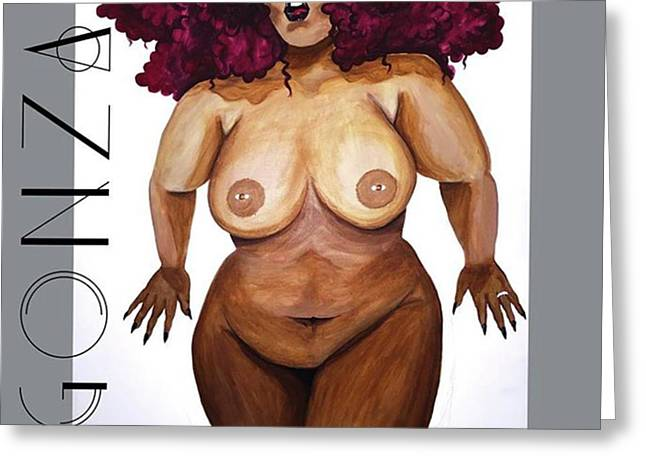 I Think I'm Finished Lol #thickgirls Greeting Card
