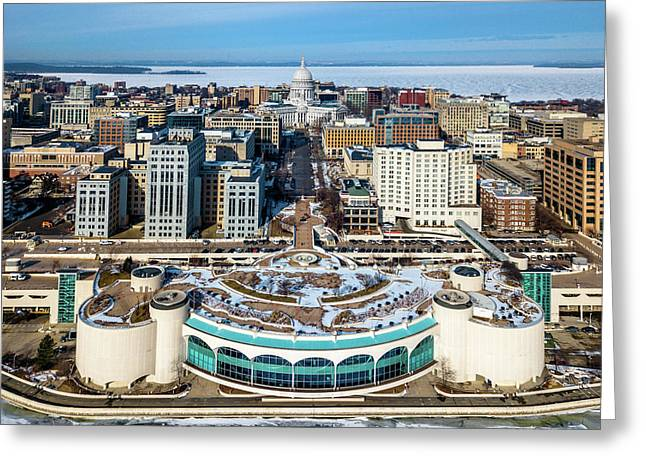 Greeting Card featuring the photograph I Took The Isthmus by Randy Scherkenbach