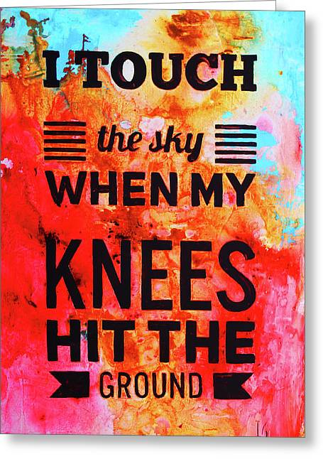 I Touch The Sky Greeting Card by Iv
