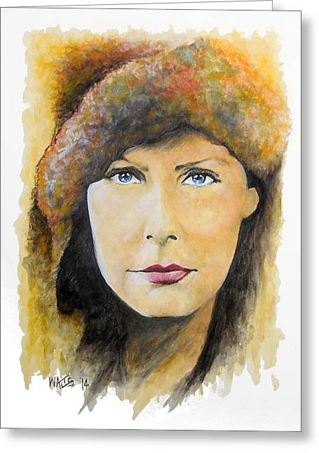 I Want To Be Alone - Garbo Greeting Card by William Walts