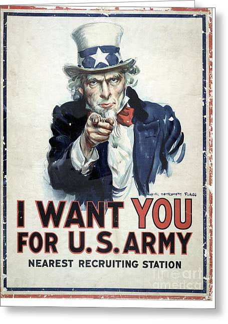 I Want You Poster  1917 Greeting Card