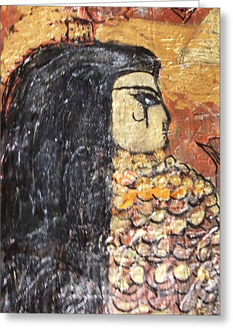 I Was An Egyptian Queen Unfinished Greeting Card by Anne-Elizabeth Whiteway