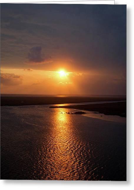 I Will Be Back Jekyll Island Sunset Art  Greeting Card by Reid Callaway