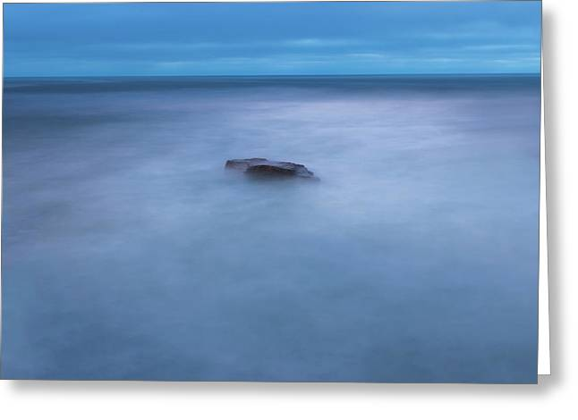 I Will Be The Rock In Your Vastness Greeting Card by Peter Tellone