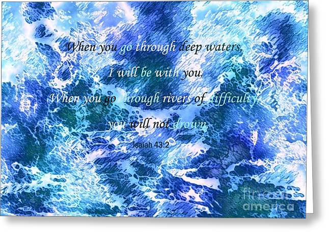 I Will Be With You Greeting Card