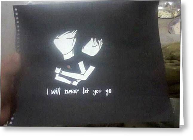 I Will Never Let U Go.......... Greeting Card by Madhusudan Bishnoi