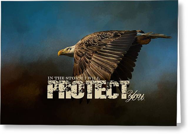 I Will Protect You - Bald Eagle Art Greeting Card by Jai Johnson