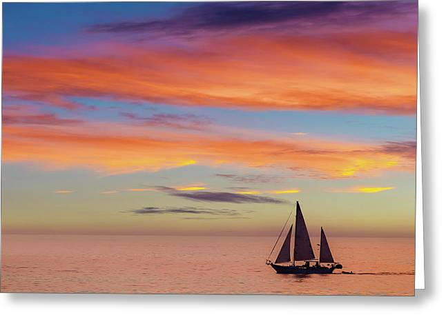 I Will Sail Away, And Take Your Heart With Me Greeting Card