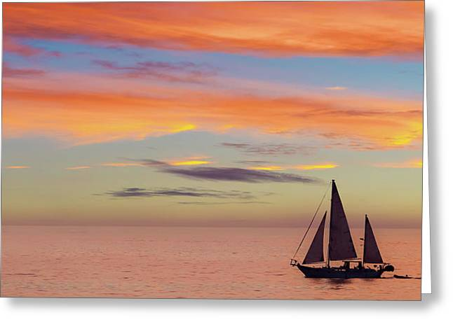 I Will Sail Away And Take Your Heart With Me Widescreen Greeting Card