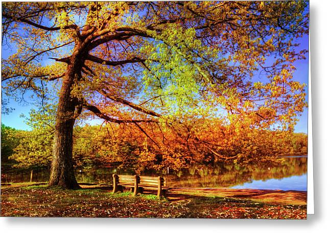 I Will Wait For You In Fall Greeting Card