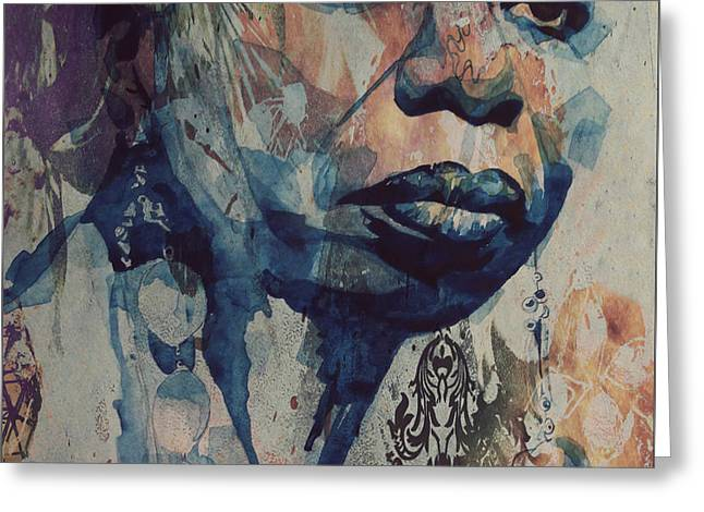 I Wish I Knew How It Would Be  Feel To Be Free Greeting Card by Paul Lovering