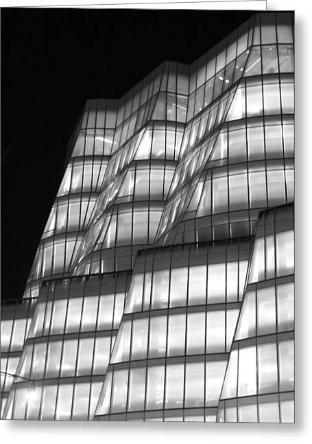 Iac Building Night Time  Greeting Card by Christopher Kirby