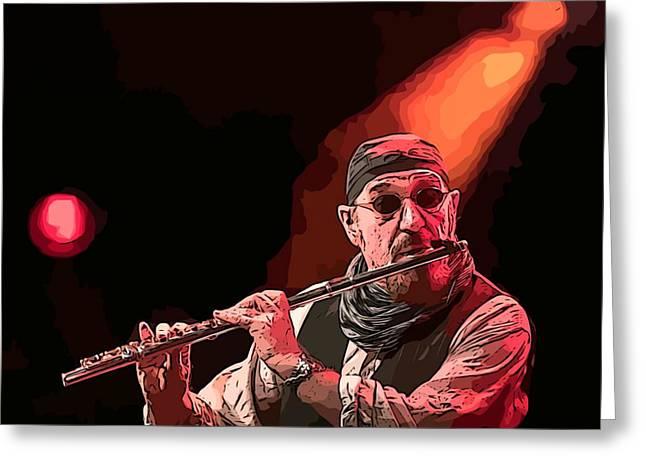 Ian Anderson Famous Scottish Flautist Greeting Card