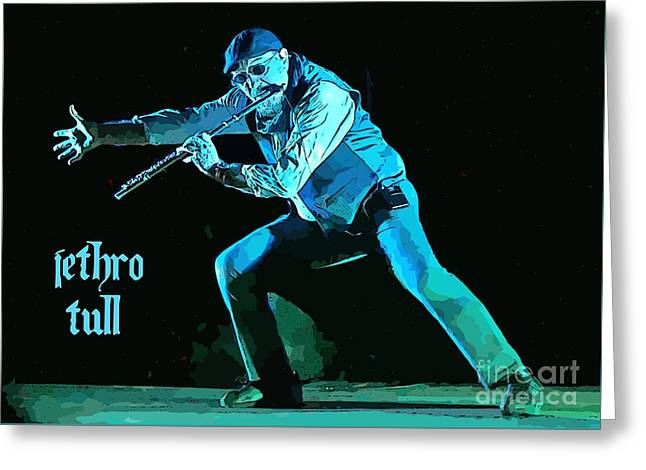 Ian Anderson Solo Greeting Card by John Malone
