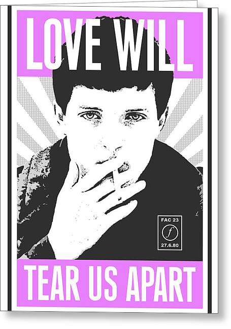 Division Greeting Cards - Ian Curtis Greeting Card by Tom Deacon