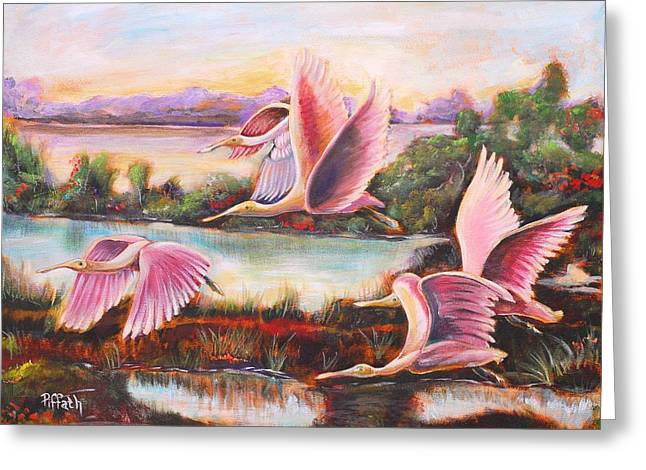 Scarlet Ibis Greeting Card