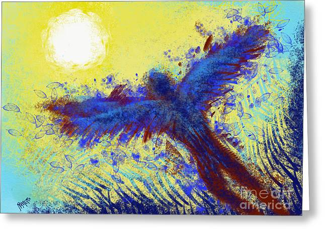 Greeting Card featuring the digital art Icarus by Antonio Romero