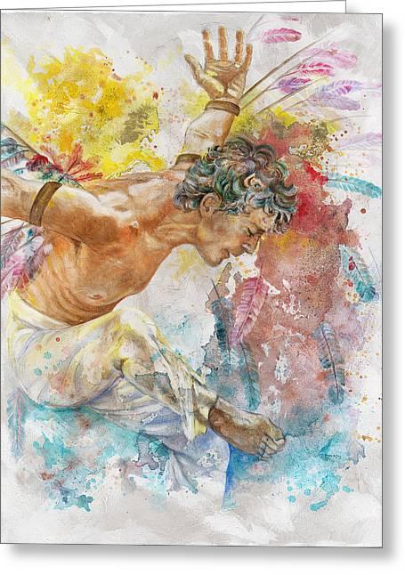 Icarus Greeting Card by Rineke De Jong