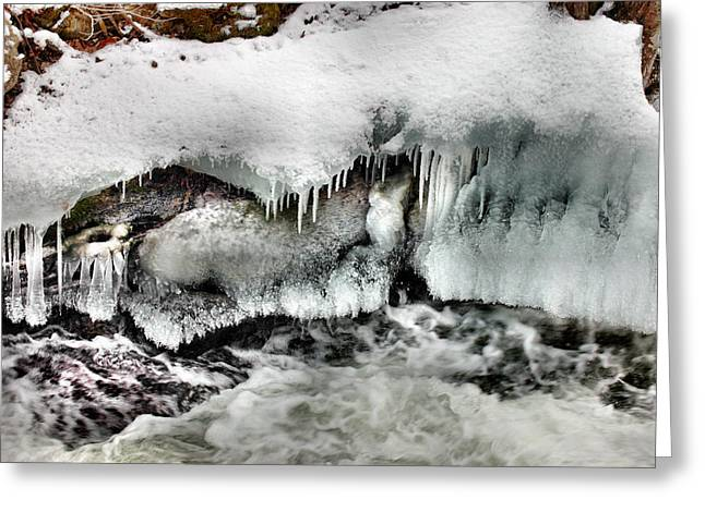 Ice 3 Greeting Card by Rick Couper