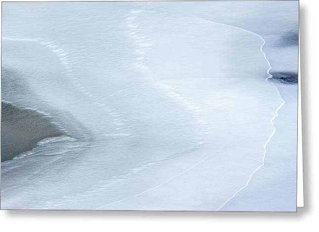 Ice Abstract 3 Greeting Card
