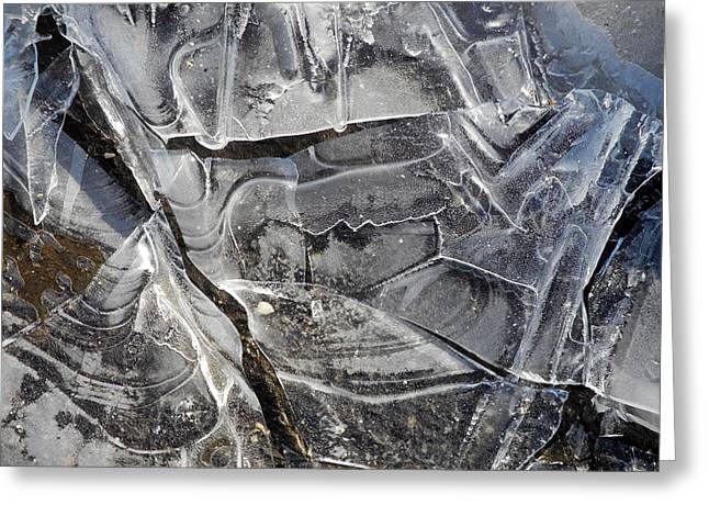 Ice Abstract Greeting Card by Lynda Lehmann