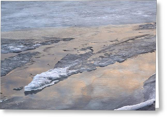 Ice And Clouds 2  Greeting Card by Lyle Crump