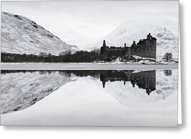Ice And Snow At Loch Awe Greeting Card