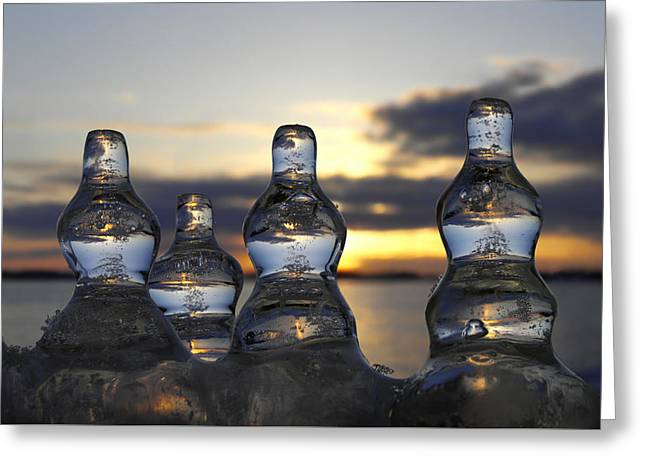 Greeting Card featuring the photograph Ice And Water 3 by Sami Tiainen