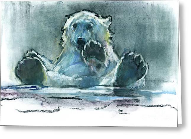 Ice Bath Greeting Card