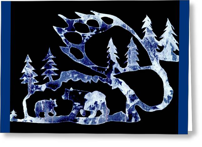 Greeting Card featuring the photograph Ice Bears 1 by Larry Campbell