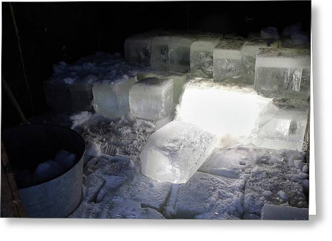 Ice Blocks In House Greeting Card