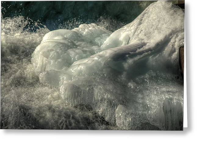 Ice Cap 2 Greeting Card by Rick Couper