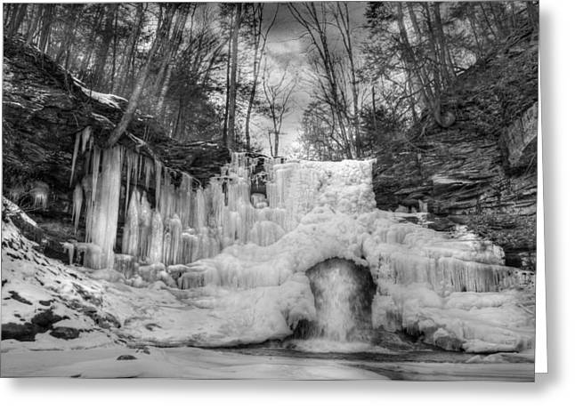 Ice Castle Greeting Card by Lori Deiter