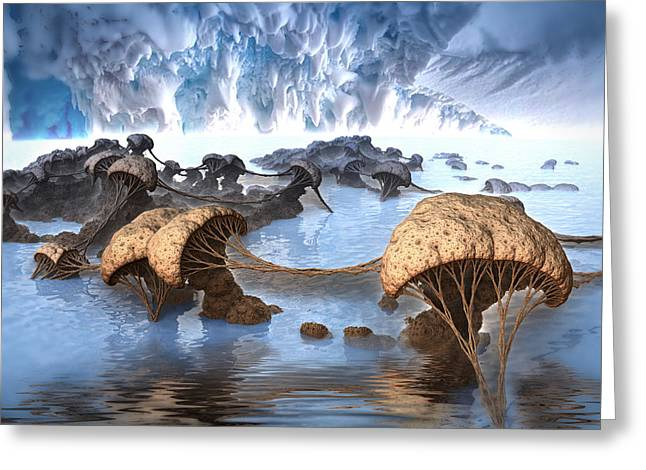 Ice Cavern Greeting Card