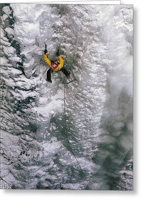 Ice Climbing In The South Fork Valley Greeting Card