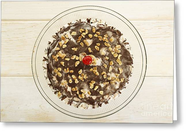 Ice Cream Cake Above Greeting Card by Edward Fielding