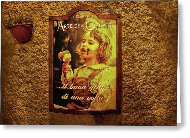Ice Cream Corner Greeting Card by Hanny Heim